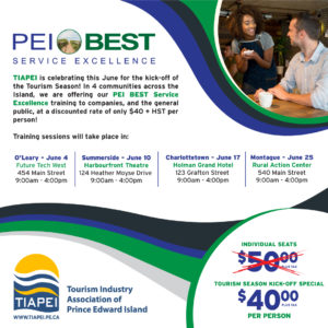 PEI BEST Service Excellence Charlottetown Open Session @ Holman Grand Hotel | Charlottetown | Prince Edward Island | Canada